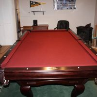 Authentic American Brunswick Burgundy Felt Pool Table