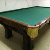 Beautiful Rare Mahogany Copy of White House Pool Table