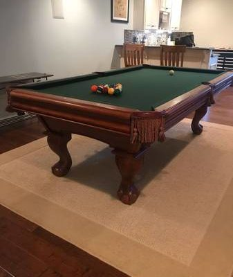 Brunswick Mahogany Pool Table